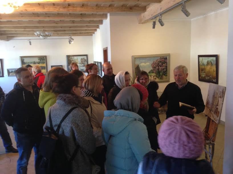 Экскурсіі 2017 у галерэі Кастуся Качана